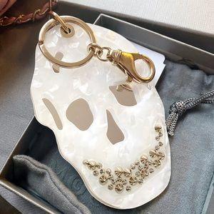 Auth. Alexander McQueen RARE XL Skull Bag Charm